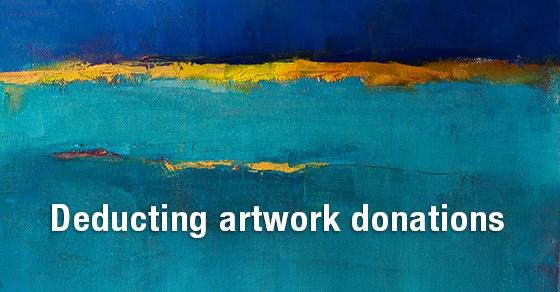 deducting artwork