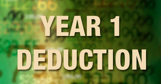 year 1 deduction