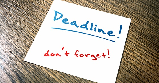 deadline don't forget